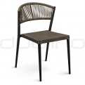 Patio & outdoor wicker, rattan dining chairs - DL IBIZA S