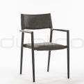 Patio & outdoor wicker, rattan dining chairs - DL MARCUS BLACK