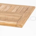 Solid wood table tops - DL SAHARA TEAK WOOD TABLE TOP 80 x 80 cm