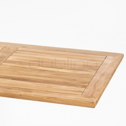 Teakwood table top 120 x 80 cm - DL SAHARA TEAK WOOD TABLE TOP 120 x 80