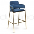 Vintage bar stools, cross back bar stools - DL BROOKLYN BLUE BS