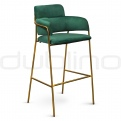 Vintage bar stools, cross back bar stools - DL BROOKLYN GREEN BS