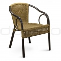 Patio & outdoor wicker, rattan dining chairs - DL ROYAL NATURE/BROWN