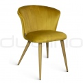 Upholstered dining chairs - DL ORCHIDEA CAMEL