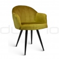 Upholstered dining chairs - DL ADEL CAMEL