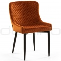 Upholstered dining chairs - DL CRYSTAL COGNAC