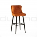 Metal bar stools - DL CRYSTAL SG COGNAC