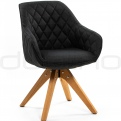 Upholstered dining chairs - DL DIAMOND CORSICA DARK GREY