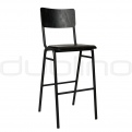 Metal bar stools - DL SCUOLA BS BLACK