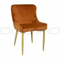 Upholstered dining chairs - DL CRYSTAL COGNAC OAK