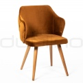 Upholstered dining chairs - SN EMET BRONZE