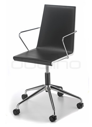 Chrome framed chair with regenerated leather, in different colors - GSnake/475rb
